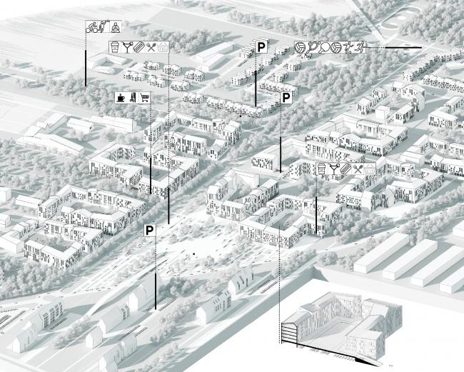 Концепция развития территории в Звенигороде. Авторы: IQ studio (Москва)