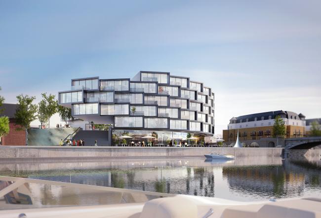 Жилой комплекс в Стайнсе-на-Темзе © Architects of Invention / Canava