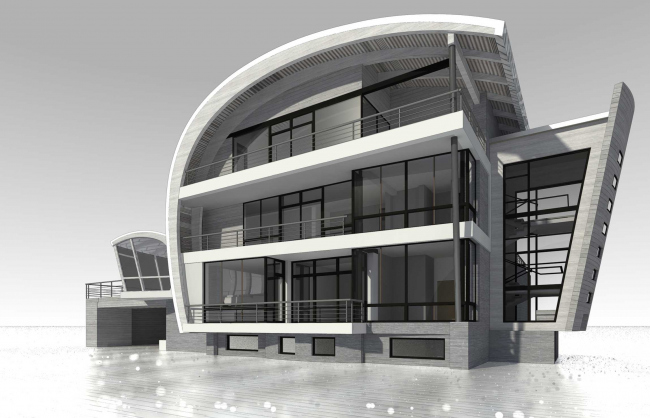 Country house. Project © Roman Leonidov architectural bureau
