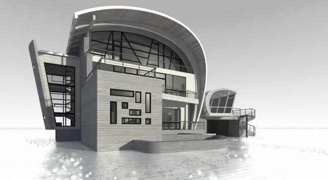 Загородный дом. Проект © Архитектурное бюро Романа Леонидова