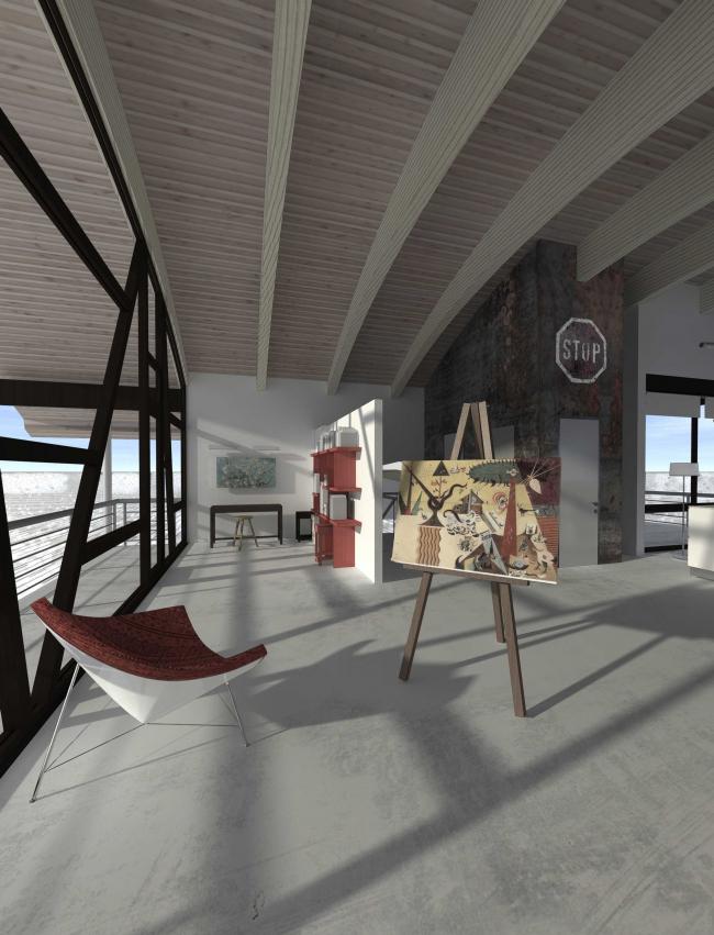 Загородный дом. Проект интерьера © Архитектурное бюро Романа Леонидова