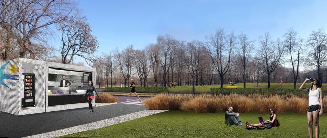 Concept of developing the Luzhnetskaya Embankment © Wowhaus