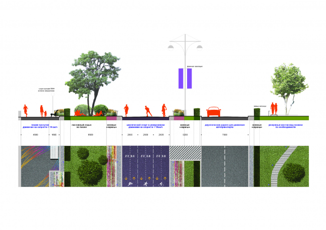 Profile of the embankment: project proposal © Wowhaus