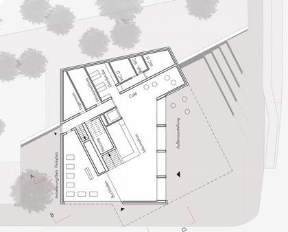 Мемориал Берлинской стены. Проект. Информационный центр. План