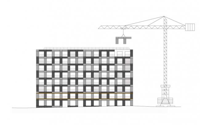 Дом на 40 квартир в районе Клиши-Батиньоль © LAN