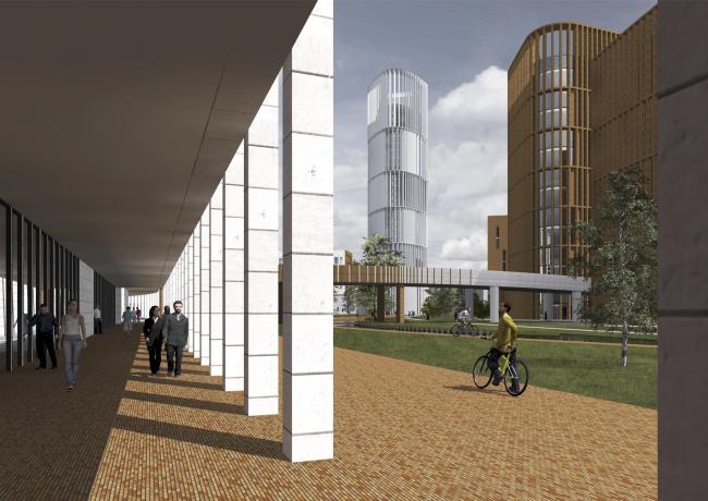 "Project of building Kazan′s ""Sedmoye Nebo« (»Seventh Heaven"") residential district. Gallery © Sergey Skuratov Architects"