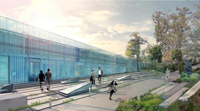 "The square in front of the yoga center. Concept of ""Dinamo"" Boulevard. Author: Ksenia Zvereva"