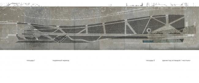 Схема бульвара с учетом предложенных изменений. Концепция бульвара «Динамо». Автор: Антон Тимофеев