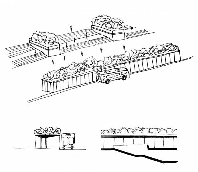 «Зеленый» модуль. Концепция бульвара «Динамо». Автор: Андрей Фомичев