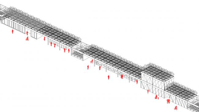 Фрагмент структуры-трансформера. Концепция бульвара «Динамо». Автор: Андрей Фомичев
