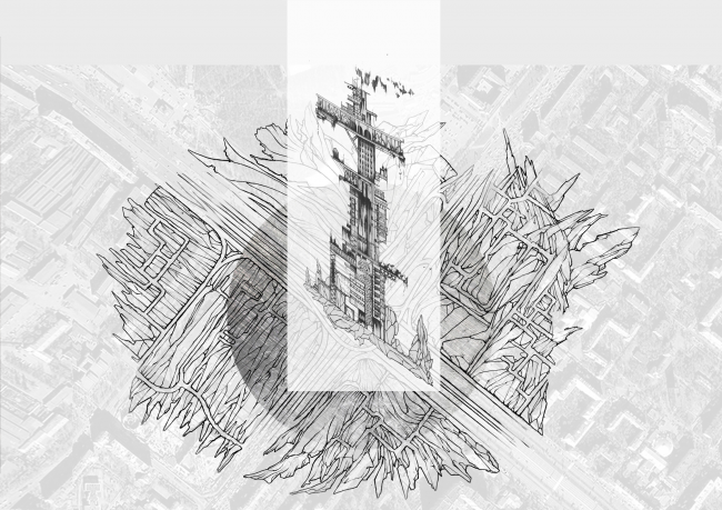 Эскизы башни Динамо. Концепция бульвара «Динамо». Автор: Дарья Зайцева