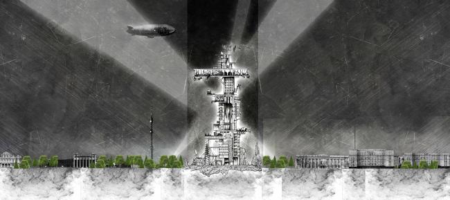 Развертка по Ленинградскому проспекту. Концепция бульвара «Динамо». Автор: Дарья Зайцева
