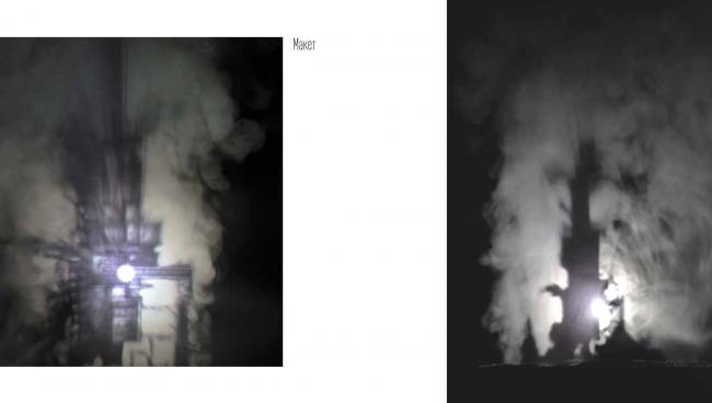 "Photo of the tower model. Concept of ""Dinamo""Boulevard. Author: Daria Zaitseva"