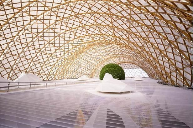 Павильон Японии на Экспо-2000 в Ганновере. Совместно с Шигеру Баном. Фото: Hiroyuki Hirai