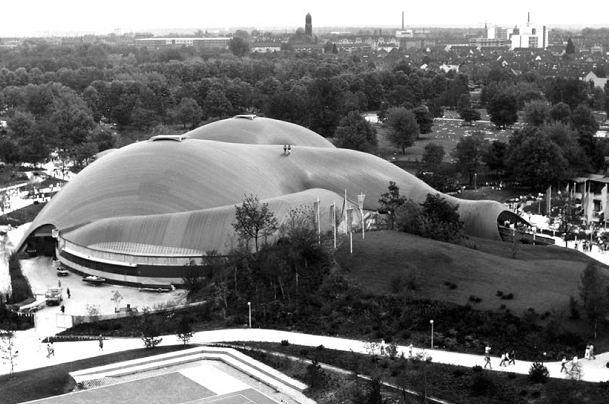 Зал Мультихалле в Мангейме. 1975 © Atelier Frei Otto Warmbronn