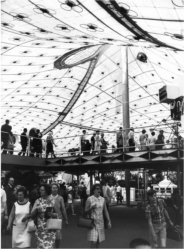 Павильон Германии на Всемирной выставке в Монреале в 1967 © Burkhardt