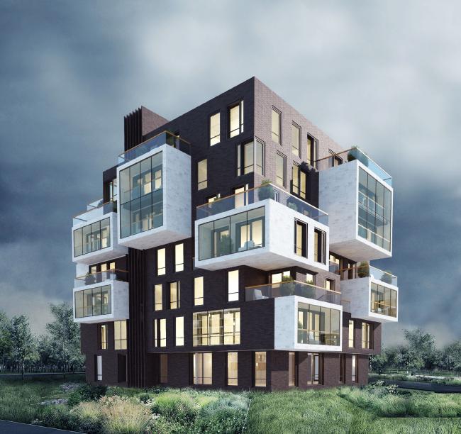 Проект загородной жилой постройки в деревне Обушково © Архитектурное бюро PANACOM