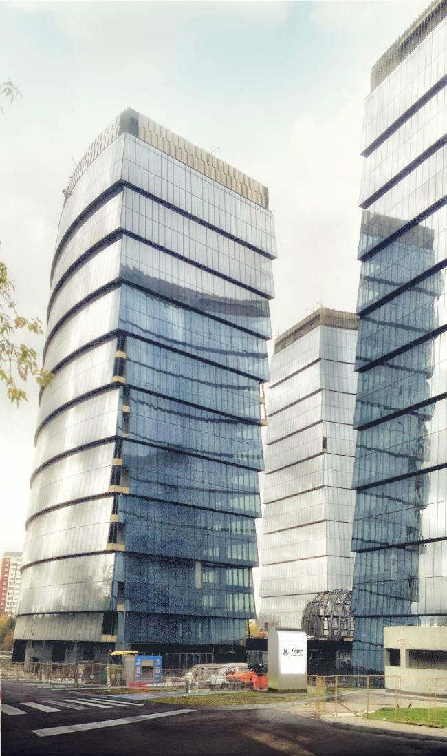 Многофункциональный комплекс «Лотос». Фотография со стройки. Постройка, 2011-2014 © SPEECH