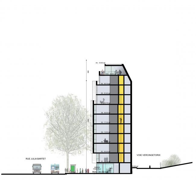 Студенческое общежитие в Порт-де-Ванс © Jacques Ripault Architecture