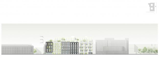 Развертка по ул. Александра Невского © Архитектурное бюро «А.Лен»