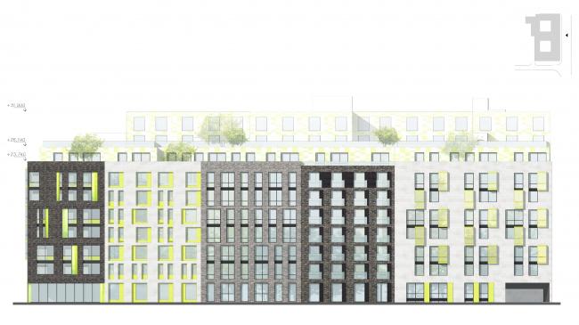 Фасад со стороны ул. Александра Невского © Архитектурное бюро «А.Лен»
