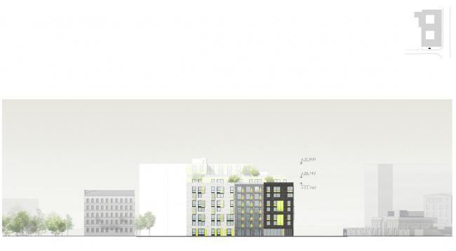 Развертка по ул. Херсонская © Архитектурное бюро «А.Лен»