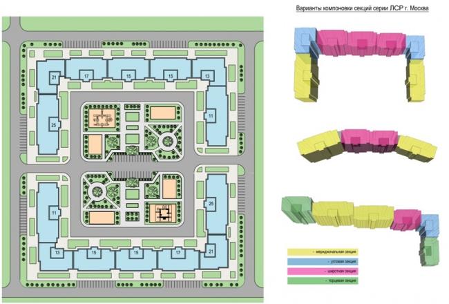Серия панельных жилых домов. Градостроительные решения. Домостроительный комбинат «ЛСР»