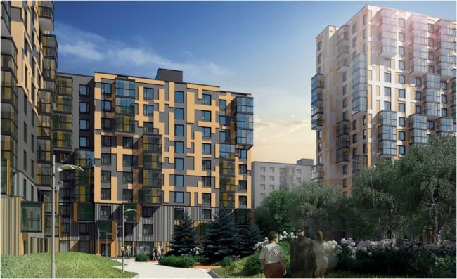 Серия индустриальных жилых домов. Решение фасадов. Домостроительный комбинат «Нарострой»
