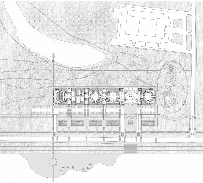 Master plan. Concept of Science and Technology Museum in Tomsk © Studio 44