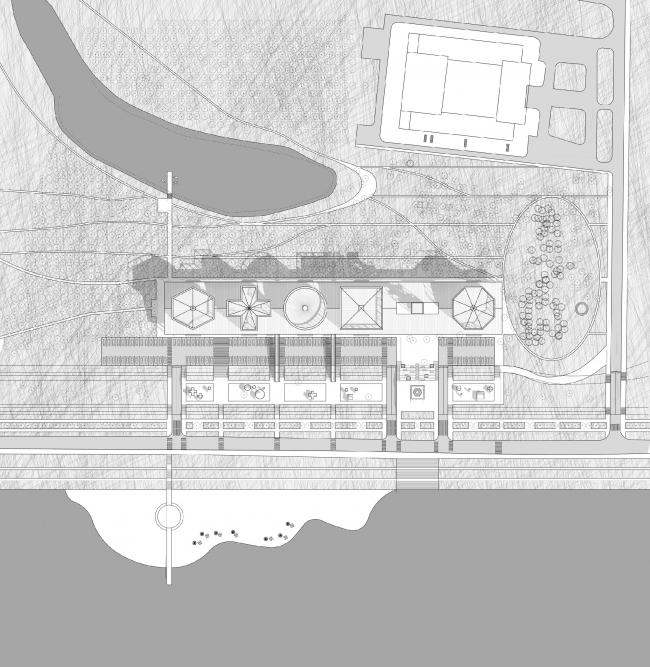 Генеральный план. Концепция Музея науки и техники в Томске © Студия 44
