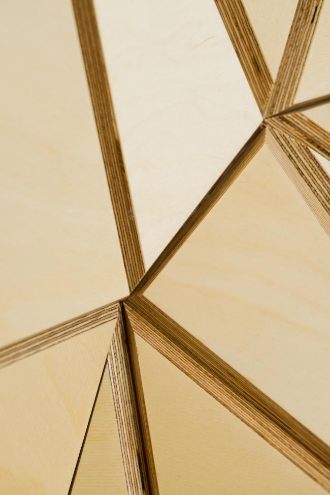 The interior design of the reception area of MGPM. Fragment © Totan Kuzembaev Architectural Studio