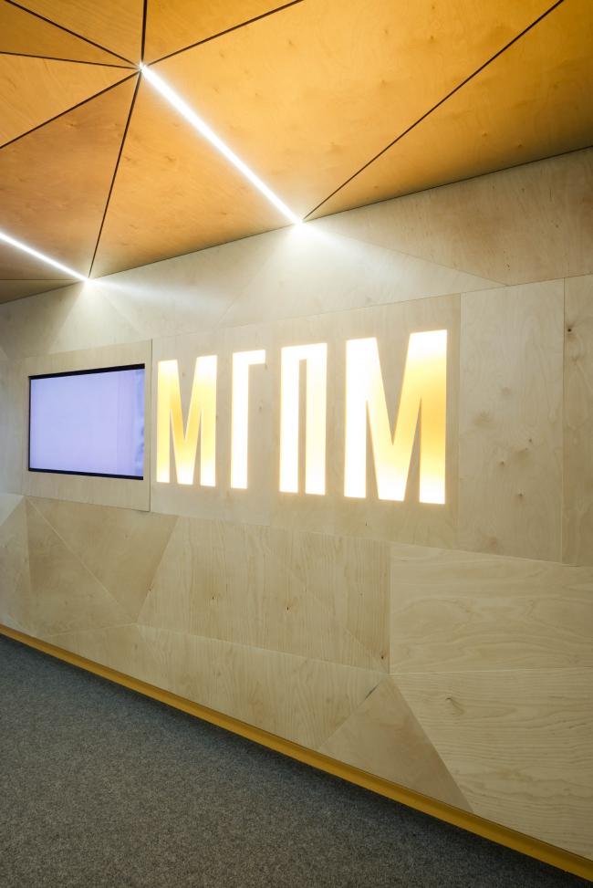Интерьер приемной компании МГПМ © Архитектурная мастерская Тотана Кузембаева