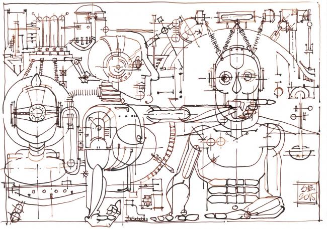 """""""From my impressions, I am a robot"""". Sergey Estrin"""