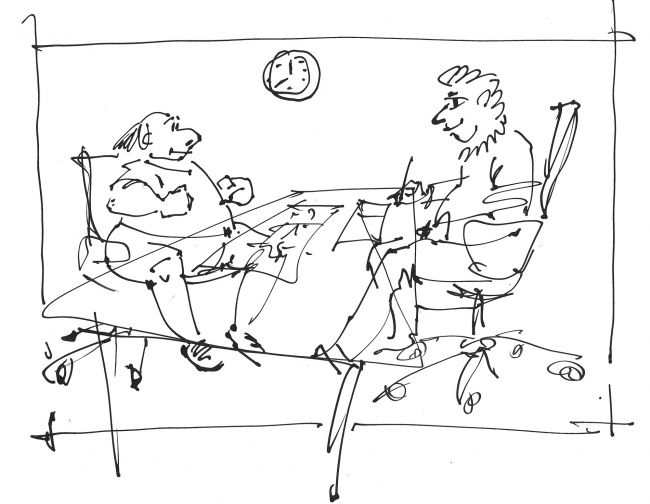 """""""Meeting with a Client"""". Sergey Estrin"""