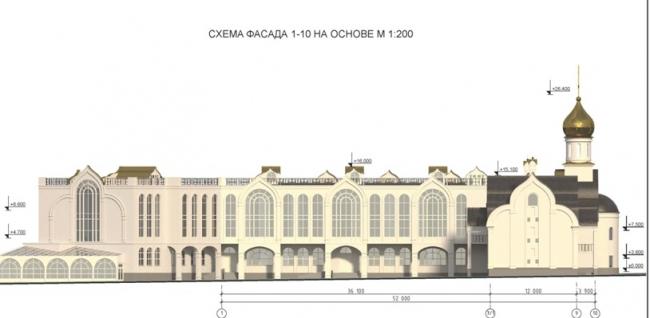 Проект православного духовного центра с гимназией в Южном Бутово. Проектировщик ООО «Рионела»
