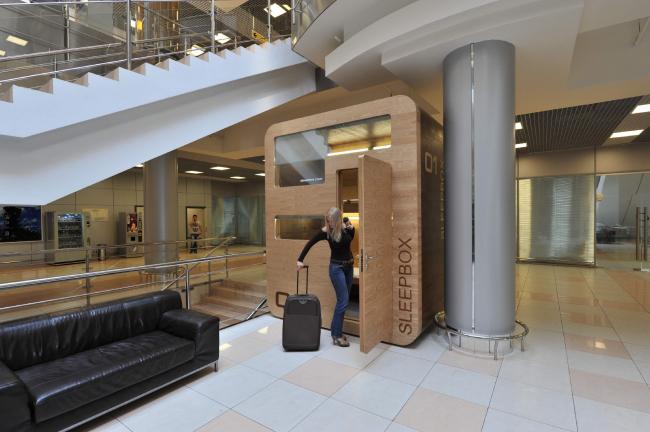Sleepbox в международном аэропорту Шереметьево © Arch group