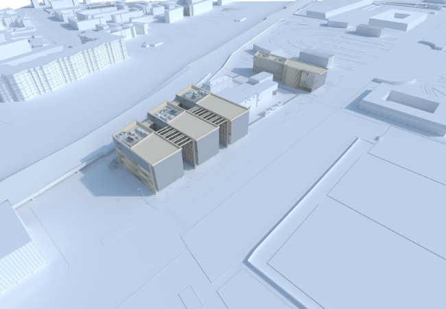 Административно-коммуникационный центр в Лужниках. Проектный институт «Арена»
