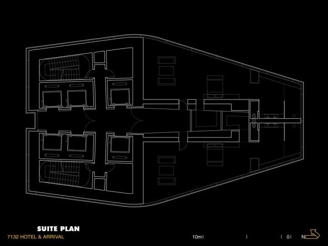 Гостиница 7132 © Morphosis Architects, Inc. Изображение с сайта morphopedia.com
