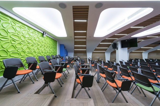 """Yandex HQ on Leo Tolstoy Street (second stage). Conference hall at the fifth floor © """"Atrium"""" Architectural Bureau"""