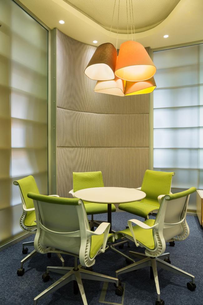 "Yandex HQ on Leo Tolstoy Street (second stage). Meeting room © ""Atrium"" Architectural Bureau"
