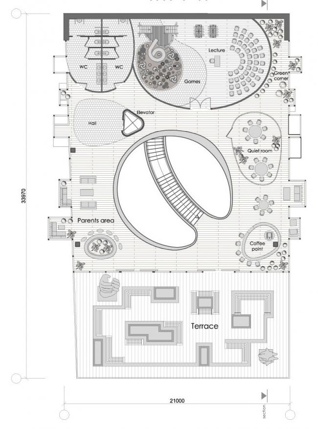 "Plan of the 3rd floor © ""Arkhitekturium"""