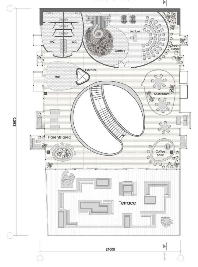 "Plan of the 3rd floor © ""Arkhitekturium"""