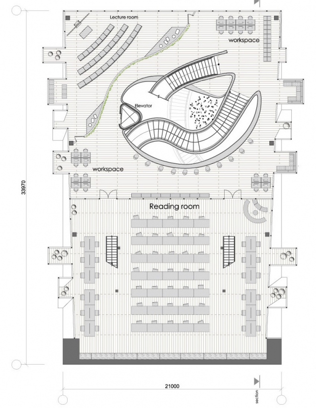 "Plan of the 2nd floor © ""Arkhitekturium"""