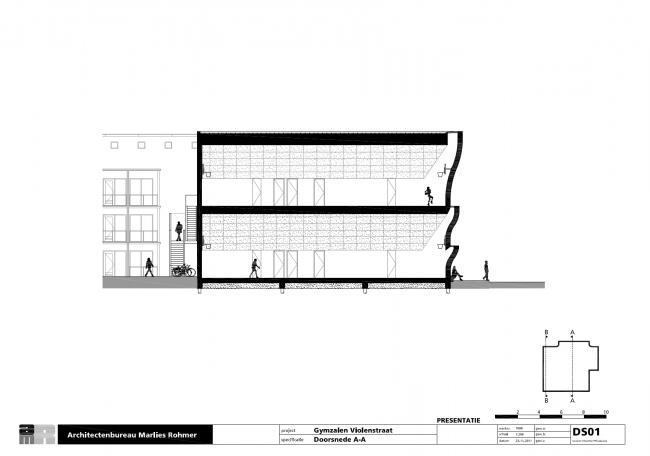 Спорткомплекс Sports Block © Architectenbureau Marlies Rohmer
