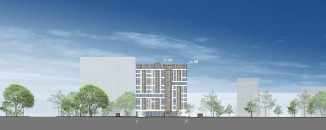The residential project on the 2nd Samarinskaya Street. Facade © GrandProjectCity