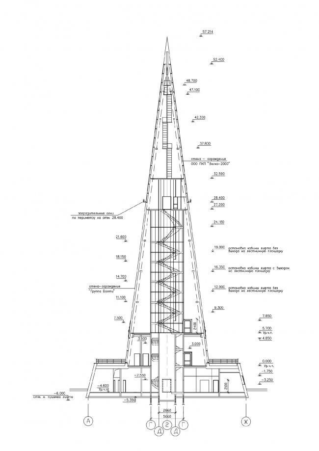 Стела-памятный знак «Первооткрывателям Земли Югорской». Разрез © Проект КС