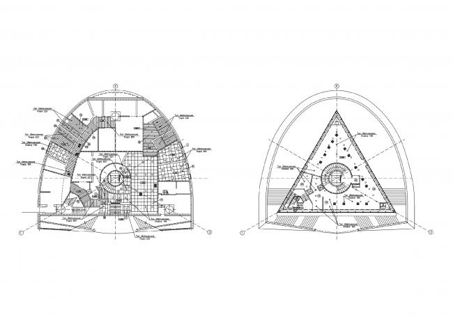 Стела-памятный знак «Первооткрывателям Земли Югорской». План © Проект КС