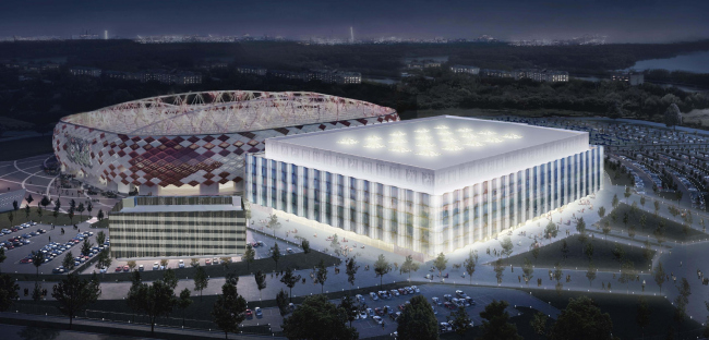 "Multifunctional complex of ""Spartak"" football stadium. Dynamic backlight © GrandProjectCity"