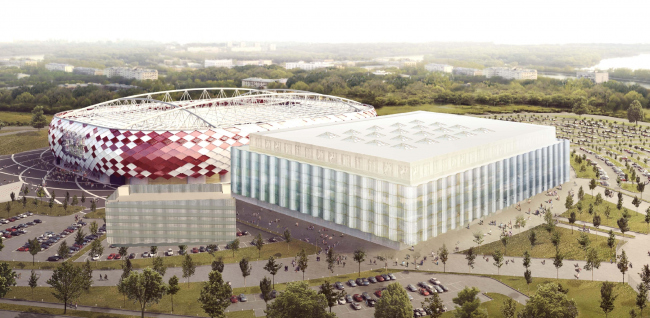"Multifunctional complex of ""Spartak"" football stadium © GrandProjectCity"