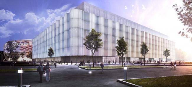 "Multifunctional complex of ""Spartak"" football stadium. Option 1 © GrandProjectCity"